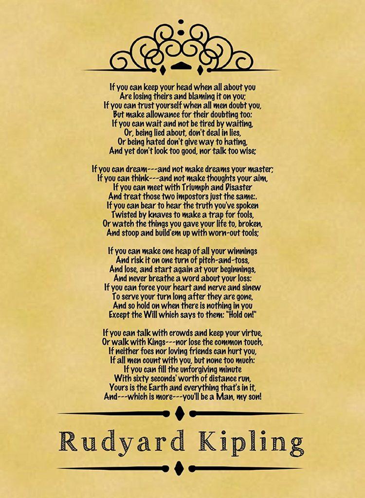 "Helecho A rayas bandera nacional  A spiritual insight: A study on Rudyard Kipling's poem ""IF"" – Thar  Multidiscipline Journal"